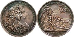 World Coins - Great Britain 1689 William & Mary Silver Coronation Medal by Bower PCGS AU Details