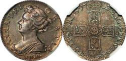World Coins - Great Britain 1703-VIGO Anne Silver Sixpence NGC MS-62 UNDERGRADED!!