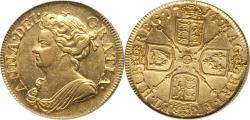 World Coins - Great Britain 1714 Anne Gold Guinea PCGS AU-58