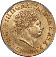 World Coins - Great Britain 1820 George III Gold Sovereign (Open 2) NGC AU-58