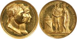 World Coins - France 1810 Napoleon I Marriage to Marie Lousie Gold Medal PCGS SPECIMEN-55 Gold Shield