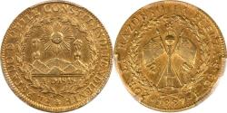 World Coins - Chile 1827-So I Republic 8 Escudos PCGS AU Details Gold Shield KEY DATE!!