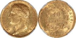 World Coins - France 1812-A Napoleon Gold 40 Francs  NGC MS-62