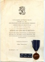 World Coins - Finland,Commemorative medal for the Continuation War 1941-1945, with award document