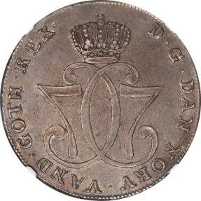 World Coins - Norway 1776-HIAB Christian VII Silver Speciedaler NGC AU-53