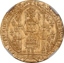 World Coins - France Charles V (1364-1380) Gold Franc a Pied NGC MS-62  (2nd die set)