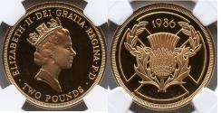 World Coins - Great Britain 1986 Commonwealth Games 2 Pounds Gold NGC PF-69 ULTRA CAMEO