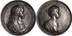 World Coins - Great Britain (1662) Charles I Marriage to Catherine of Braganza Silver Medal NGC AU DETAILS