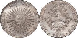 World Coins - Argentina 1815F-PTS Rio de la Plata Silver 8 Reales NGC AU-55