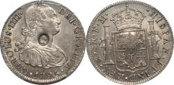 World Coins - Great Britain 1797 George III Counterstamped Bank Dollar on 1795 Mexico 8 Reales PCGS MS-62