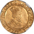 World Coins - Great Britain James I Gold Double Crown Trefoil mm (1613) NGC AU-58