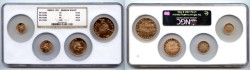 World Coins - Russia, USSR, Famous Ballet Gold BU Set 1991, NGC large holder RARE