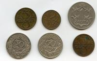 World Coins - Small Set of 6 coins Polish Republic 1923-1938