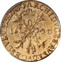 World Coins - Belgium Brabant 1600 Albert & Isabella (1598-1621) Gold 2 Albertins PCGS AU Details