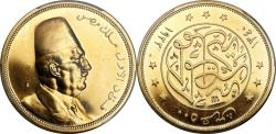 World Coins - Egypt AH1340//1922 Fuad I gold Proof 500 Piastres PCGS PR-62