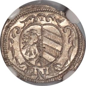 World Coins - 1678-N Germany Nurnberg 1 Silver Kreuzer NGC MS-64