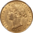 World Coins - Australia 1864 Victoria Gold Sovereign NGC MS-60