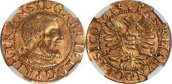 World Coins - Transylvania 1613 Gabriel Batholi Gold Ducat NGC AU-55 RARE!!