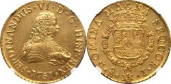 World Coins - Chile 1751 So-J Ferdinand VI gold 8 Escudos  NGC MS-62