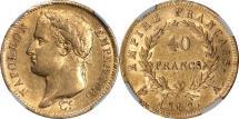 World Coins - France 1812-A Napoleon I Gold 40 Francs NGC AU-55