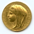 World Coins - France French GOLD medal 1895 by Louis-Oscar Roty - 25-th anniversary of 3rd republic AU , RARE