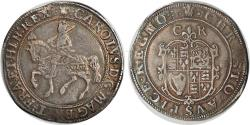 World Coins - Great Britain Charles I Silver Halfcrown Oval Shield with CR above, struck 1630-1631 NGC VF-30
