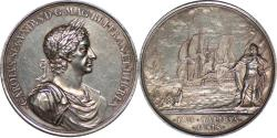 World Coins - Great Britain Charles II Naval Victory Against Holland Silver Medal