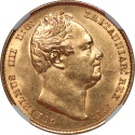 World Coins - Great Britain 1837 William IV Gold Sovereign NGC MS-63