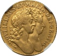 World Coins - Great Britain 1689 William & Mary gold Guinea NGC VF-35 RARE!