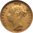 World Coins - Australia 1882-S Victoria gold Half Sovereign NGC XF-45