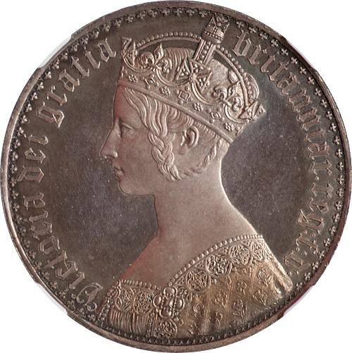 World Coins - Great Britain 1847 Victoria Proof Crown NGC PF-62
