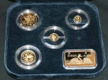 World Coins - Russia, RARE GOLD Set, 1997, Swan Lake PROOF, Original Box