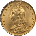 World Coins - Great Britain 1887 Victoria Gold Half Sovereign PCGS MS-65