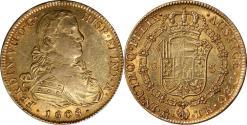 World Coins - Mexico 1808 Mo-TH Ferdinand VII Gold 8 Escudos AU
