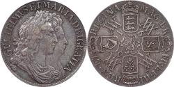 World Coins - Great Britain 1691 William and Mary Crown PCGS XF-40
