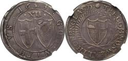 World Coins - Great Britain 1653 Commonwealth Silver Shilling NGC XF-40 BOLD DETAILS!!