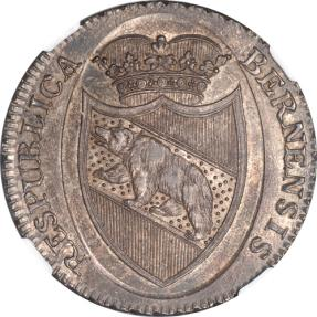 World Coins -  Switzerland 1798 Bern Silver Thaler NGC MS-63