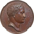 World Coins -  France Napoleon I Bronze Medal on the Retreat of the French Army from Russia in 1812 NGC MS-65 BN