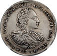 World Coins - Russia 1720 Peter I Silver 1/2 Rouble (Poltina) NGC VF DETAILS
