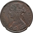 World Coins - Great Britain 1873 Victoria Bronze Penny NGC MS-63 BN