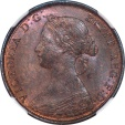 World Coins - Great Britain 1861 Victoria Half Penny NGC MS-65 RB LCW Signature on the Rock!!
