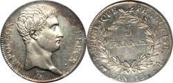 World Coins - France AN-13 M Napoleon Silver 5 Francs PCGS AU-58