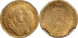 World Coins - Great Britain 1689 William & Mary Gold Guinea NGC XF-40