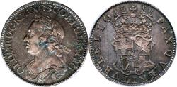 World Coins - Great Britain 1658 Cromwell Silver Half Crown PCGS AU-53 Gold Shield
