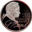 World Coins - West Germany 1974-D Silver Proof 5 Mark - Kant - PCGS PR-68 DEEP CAMEO