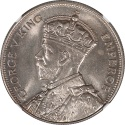 World Coins - New Zealand 1934 George V Silver Half Crown NGC MS-65