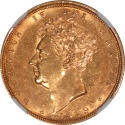 World Coins - Great Britain 1829 George IV Gold Sovereign NGC AU-58