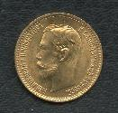 World Coins - Russia, GOLD, 5 roubles 1902 Full luster UNC details