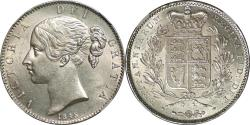 World Coins - Great Britain 1845 Victoria Silver Crown NGC MS-62+