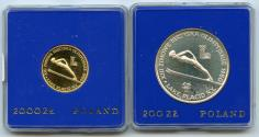 World Coins - 1980 Poland Gold Proof 2000 Zlotych Olympics in Lake Placid +BONUS SILVER 200 ZL